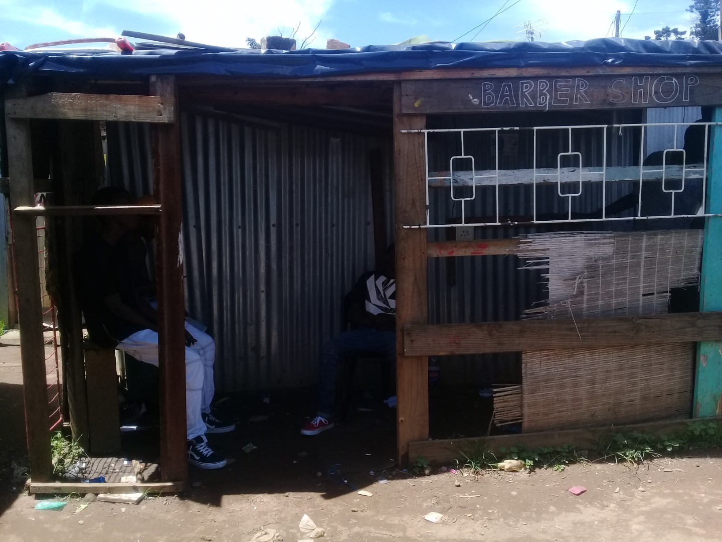Exhibition images of Quarry Road West informal settlement.
